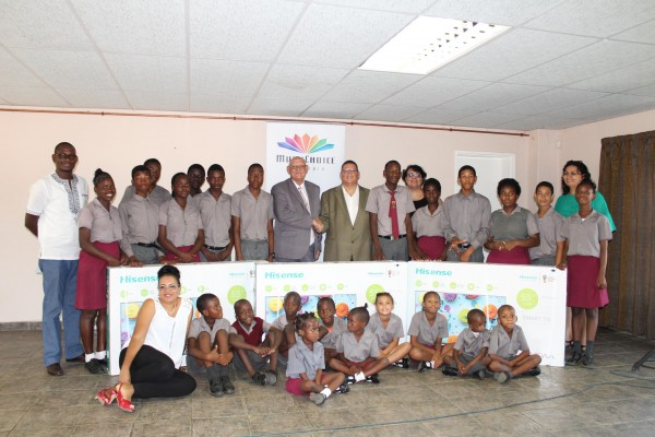 MultiChoice Namibia Handover of TV screens to Namibian Deaf Learners at NISE